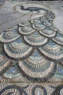 Mozaic deosebit alee gradina