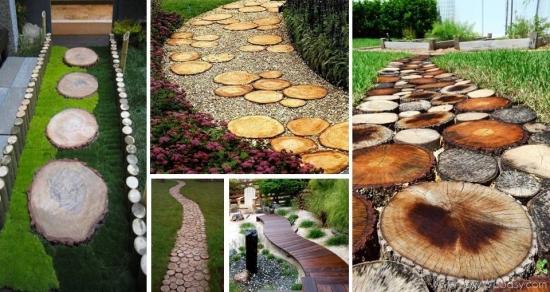 Alei de gradina din lemn - 24 de proiecte la indemana