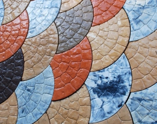 Pavaje colorate