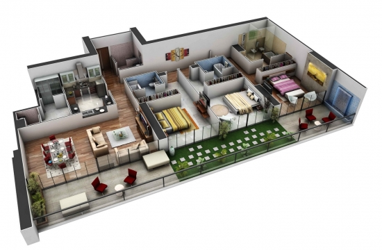 3. Apartament spatios idee design interior