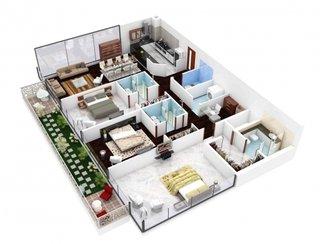 4. Plan amenajare eficienta apartament 4 camere