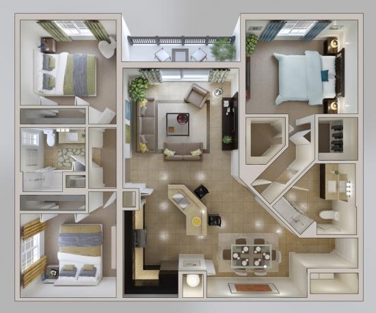 5 Apartament patrat de 4 camere
