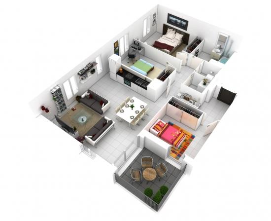 Amenajare apartament cu 4 camere mic