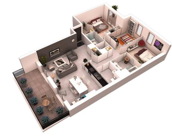 Apartament 3 camere transformat in 4 camere