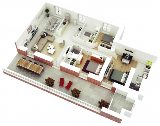 Apartament 4 camere suprafata mare