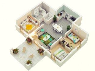 Idee decorare apartament 4 camere semidecomandat