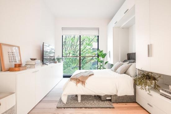 Mobilier alb apartament mic