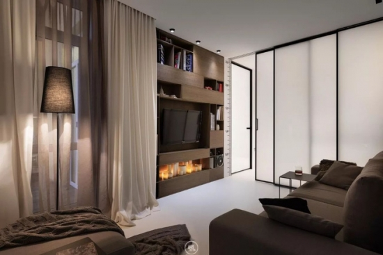 Living cu decor minimalist