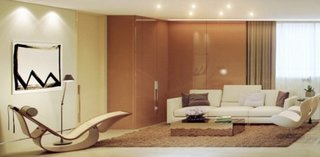 Living maro si crem un decor minimalist modern