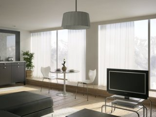 Living open space decorat monocrom decor minimalist