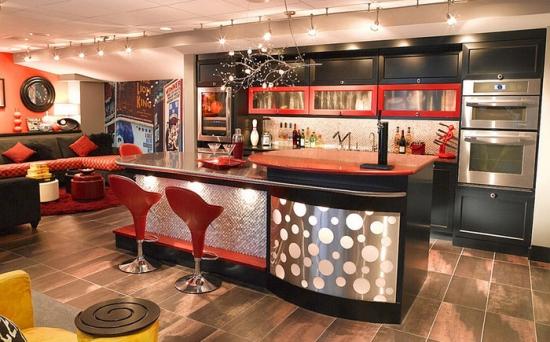 Bar acasa amenajat in stilul anilor 70