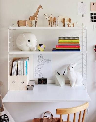 Culori neutre pentru amenajare birou copil