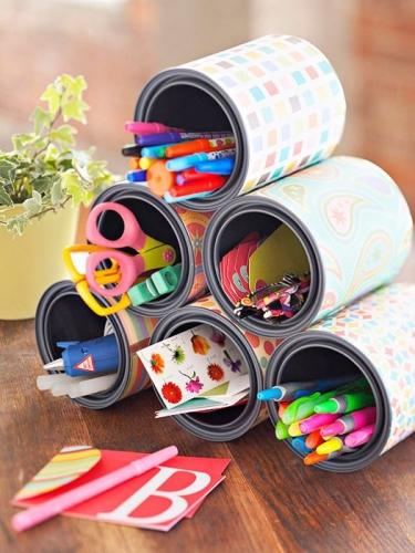 Idee de organizatoare pentru creioane si pixuri