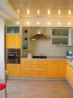 Gri si galben portocaliu pentru bucatarie