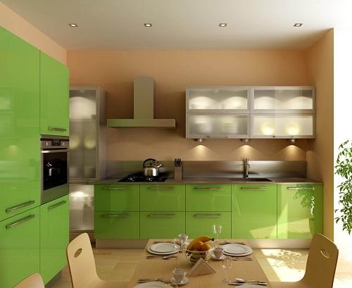 Bucatarie verde lime