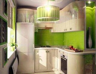 Combinatie de verde si crem pentru bucatarie