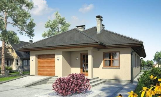 Idei si solutii de compatimentare pentru casele fara etaj cu 3 dormitoare - planuri 3D