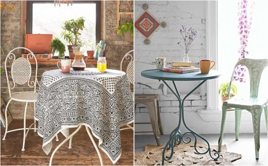 Mobilier cu masa si scaune din fier foarte original in sil eclectic