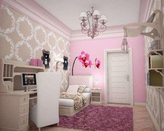 Dormitor roz adolescente
