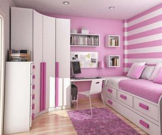 Dormitor roz pentru fete