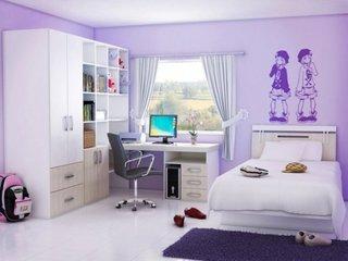 Dormitor violet adolescente