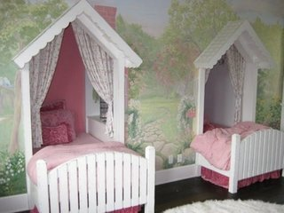 Amenajare dormitor fete gemene