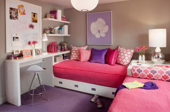 Dormitor fete adolescente design contemporan