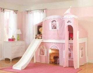 Dormitor fete cu pat supraetajat