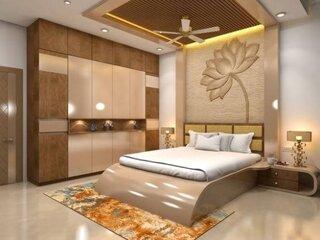 Dormitor cu mobila crem