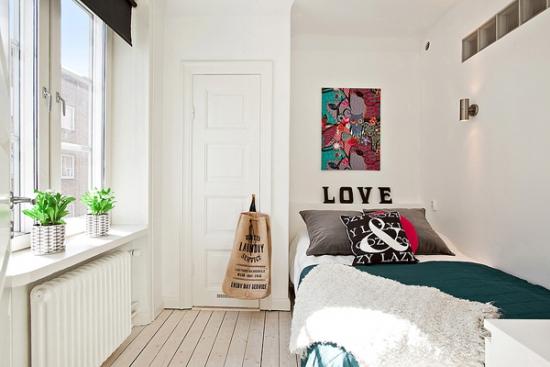 Dormitor cu pat de 1 persoana