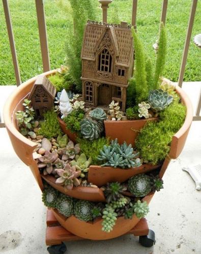 Vas etajat plante suculente