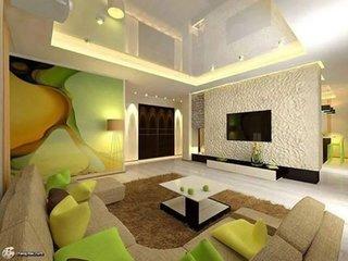 Verde galben si maro culori pentru decorare sufragerie