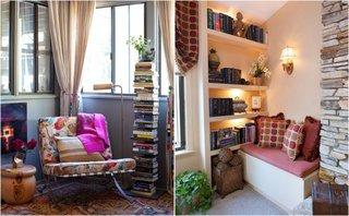 Idei de colturi de lectura amenajate in living