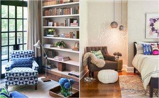 Lumina naturala si lumina artificiala pentru zona de lectura din camera