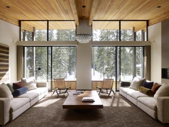 Simetrie in decor living modern