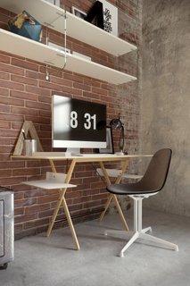 Birou minimalist din lemn