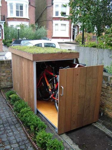 Spatiu depozitare culisant pentru bicicleta