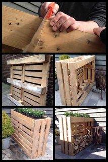 Spatiu depozitare lemne din paleti