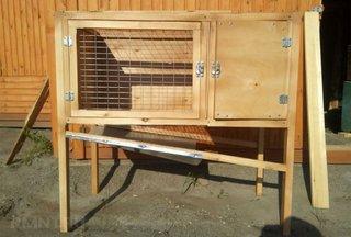 Cusca din lemn pentru iepuri