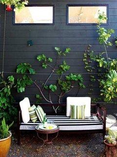 Bancuta de gradina cu perne decorative colorate