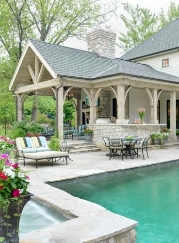 Decor superb de terasa cu perne decorative turcoaz pentru mobilierul de gradina