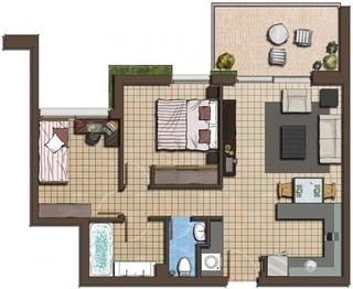 Plan parter casa de mici dimensiuni