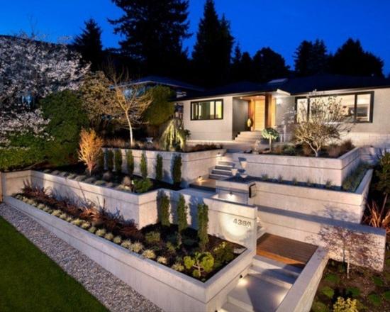 Casa moderna cu gradina terasata