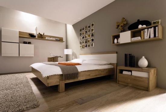 Culori neutre calde in dormitor