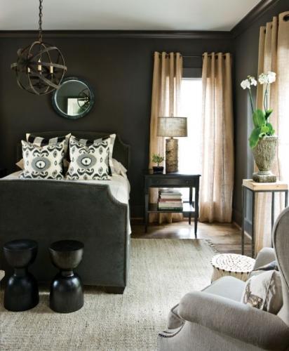 Dormitor cu palete neutre dar magice