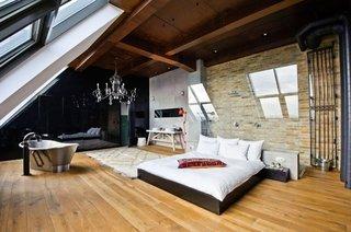 Dormitor in stil fusion extrem de interesant