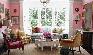 Pereti zugraviti cu roz si alb