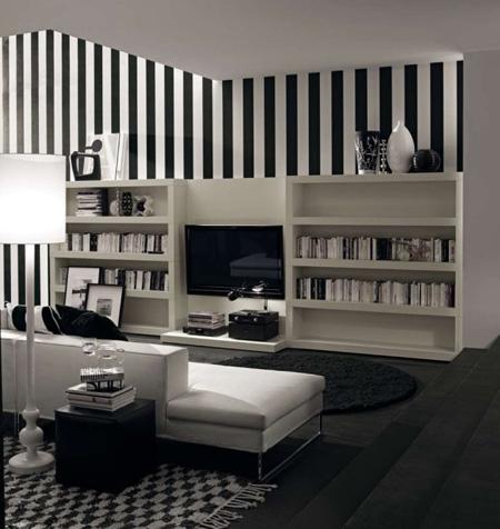 Amenajari interioare in alb si negru