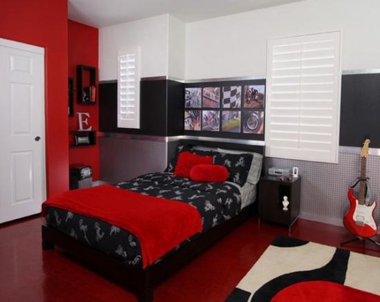 Concepte de rosu in dormitor