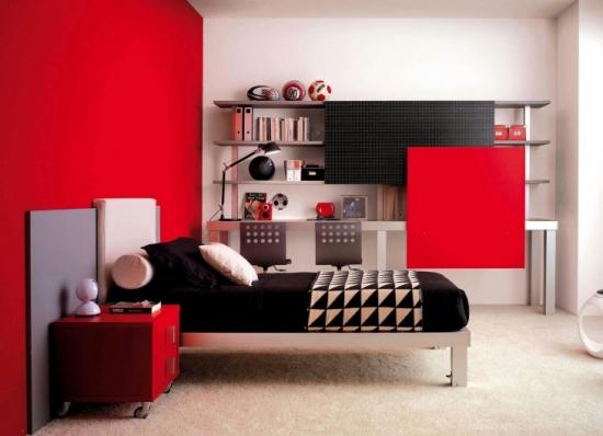 Idei inedite si efecte de rosu in camera ta